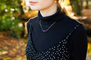 Amethyst Minimal Necklace