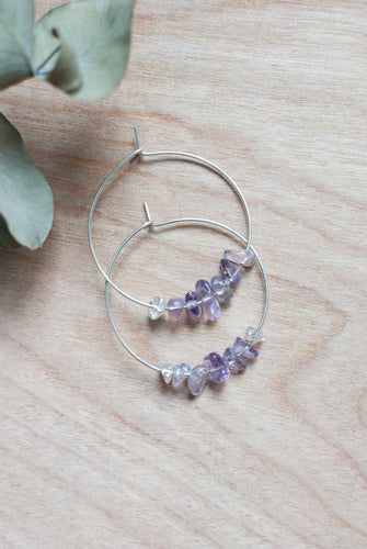 Ametrine Hoop Earrings