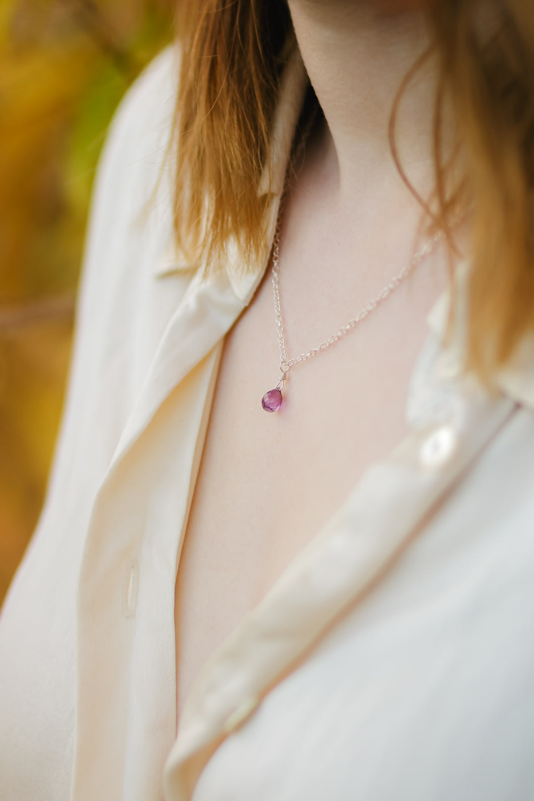 Dainty Amethyst Necklace