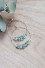 Fluorite Hoop Earrings