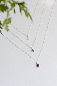 Gemstone Teardrop Necklaces