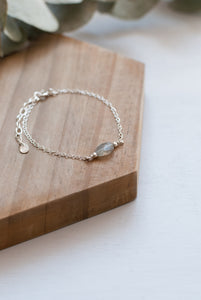 Grey Gemstone Bracelet