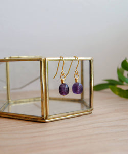 Amethyst Nugget Earrings