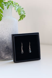 Grey Gemstone Earrings