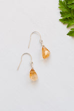 Orange Gemstone Earrings