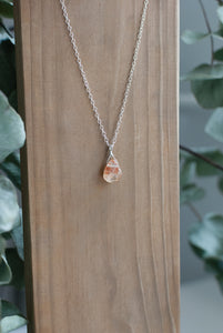 Orange Gemstone Necklace