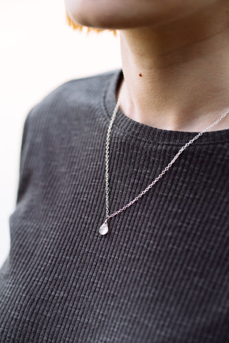Pale Pink Crystal Necklace