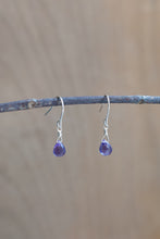 Recycled Silver Amethyst Earrings