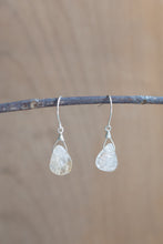 Recycled Silver Gemstone Earrings