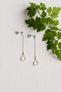 Rose Quartz Cascade Earrings
