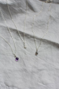 Silver Gemstone Necklaces