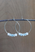 Sterling Silver Gemstone Hoops