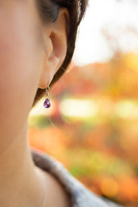 Tiny Amethyst Earrings