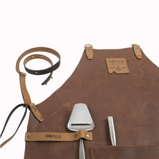 Mr. Smith Lederschürze Braun Cross-Body