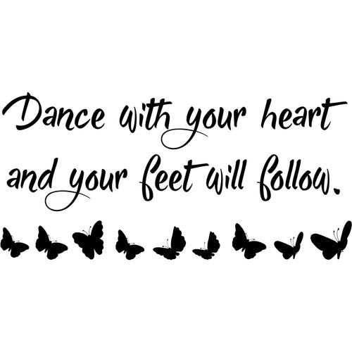 Dance With Your Heart wall decal