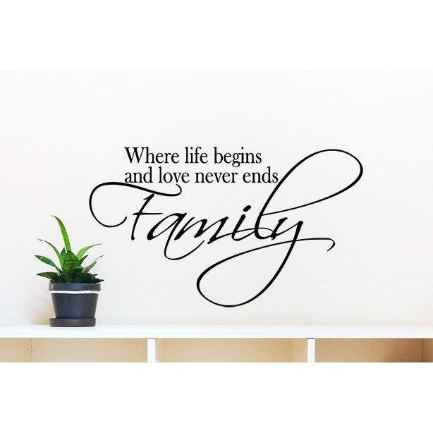 Family...Where Life Begins