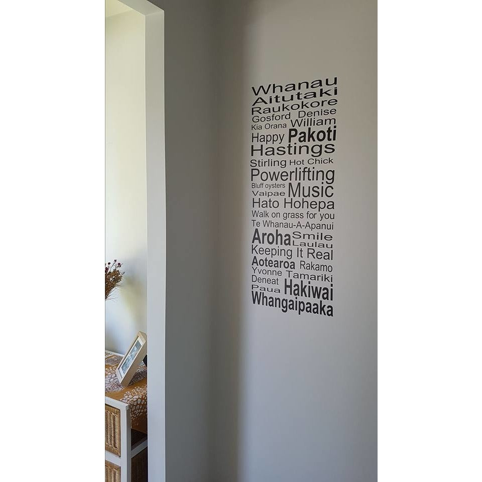 Customised Family Words removable wall decal