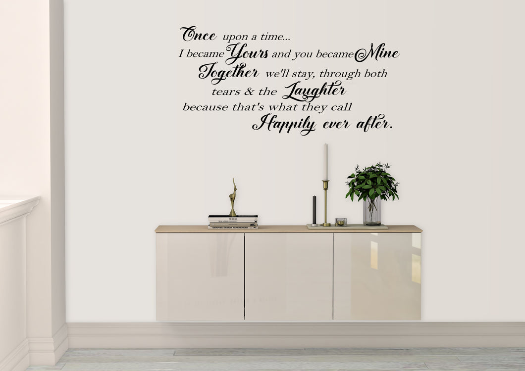 Once upon a time... - Emjay Alley Wall Decals
