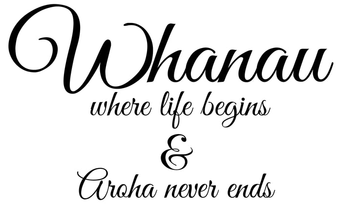 Whanau - Where Life Begins Wall Decal