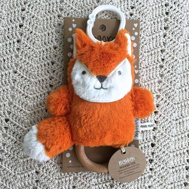 Ding-a-ring Teether & Rattle - Orange Fox
