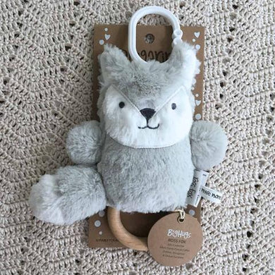 Ding-a-ring Teether & Rattle - Silver Fox