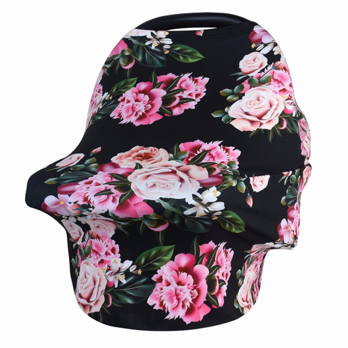 Classic Car Seat Cover - Black Floral