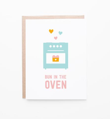 Bun In The Oven Greeting Card