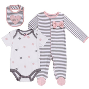 Baby Girl 3 Piece Sleeper Set