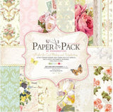 30.5cm*30.5cm 24sheets/lot pretty cute floral pattern creative papercraft art paper handmade scrapbooking kit set books