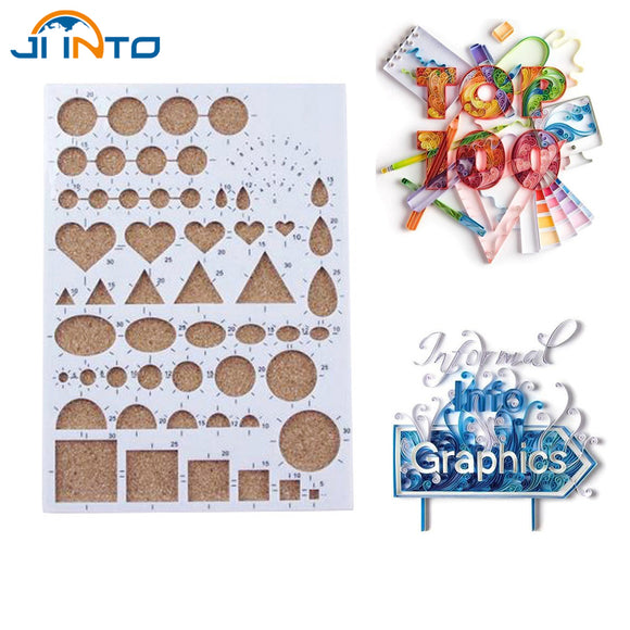 Paper Quilling Template Mould Board Papercraft DIY Crimper Art Tool Scrapbooks