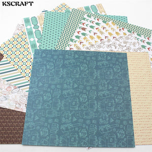 "KSCRAFT 12pcs 6"" Single-side Printed Travel Series pattern creative papercraft art paper handmade scrapbooking kit set books"