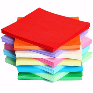 Lowest Price 200 520 PCS Sheets Origami Paper Double Sided Coloured Craft Square Assorted DIY Folded Papercraft Tools Multi Size