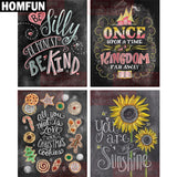 "HOMFUN Full Square/Round Drill 5D DIY Diamond Painting ""Cartoon hand painted"" 3D Embroidery Cross Stitch Mosaic Rhinestone Decor"