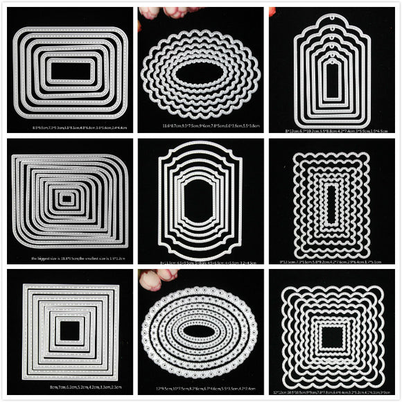 YPP CRAFT Mixed Frame Metal Cutting Dies Stencils for DIY Scrapbooking/photo album Decorative Embossing DIY Paper Cards