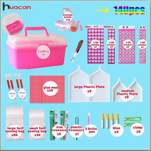 140pcs/set Diamond Embroidery Accessories 5D DIY Diamond Painting Cross Stitch Tools Full Kits Rhinestones Boxes Cases