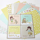 "KSCRAFT 12pcs 6"" Single-side Printed Mixed pattern creative papercraft art paper handmade scrapbooking kit set book"