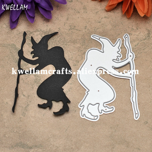 Wizard Halloween Decoration Metal Die cutting Dies For DIY Scrapbooking Photo Album Decorative Embossing Folder KW7081020
