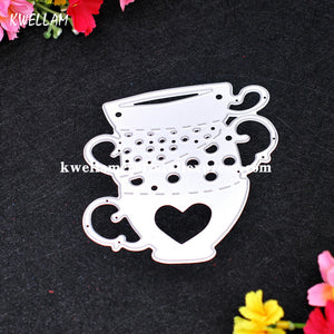 Heart Stacked Cups Metal Die cutting Dies For DIY Scrapbooking Photo Album Decorative Embossing Folder Stencil KW7052303