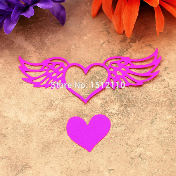 Angel Heart Wing Metal Die cutting Dies For DIY Scrapbooking Photo Album Decorative Embossing Folder 611104
