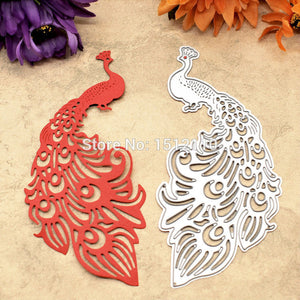 Peacock Metal Die cutting Dies For DIY Scrapbooking Photo Album Embossing Folder Stencil Die Cut KW672203