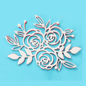 1pc rose floral stencil metal Cutting die for DIY papercraft projects  Scrapbook Paper Album greeting cards paper works