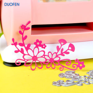 1pc floral corner stencil metal Cutting dies for DIY papercraft projects Scrapbook Paper Album greeting cards paper works deco