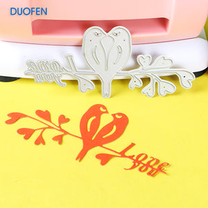 1pc cute LoveBird stencil metal Cutting dies for DIY papercraft projects Scrapbook Paper Album greeting cards paper works deco