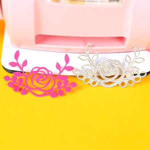 2pc rose floral stencil metal Cutting die for DIY papercraft projects Scrapbook Paper Album greeting card paper works decoration
