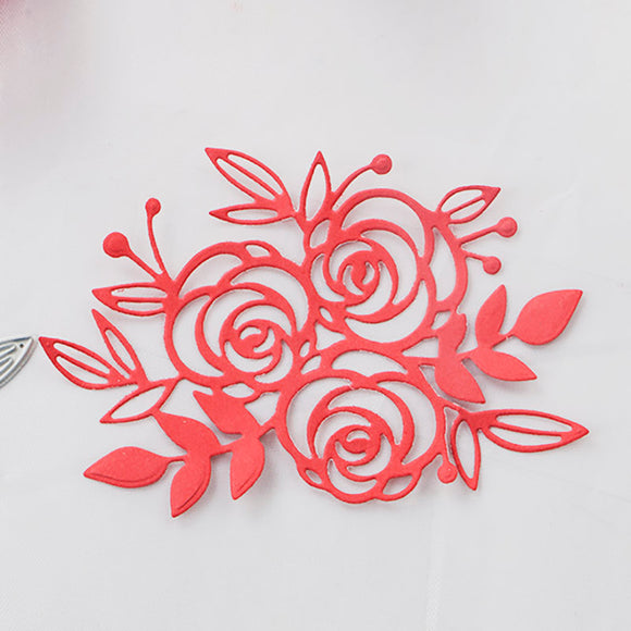 1pc small Beautiful rose floral Cutting die for DIY Scrapbooking Scrapbook Paper Album - Papercraft die cutting dies