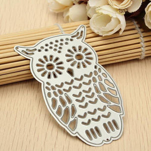 Inexpensive Cards Making Dies Cut Cutting Die Nesting Cards Papercraft Embossing Decoration Owl Shaped Paper Cut High quality