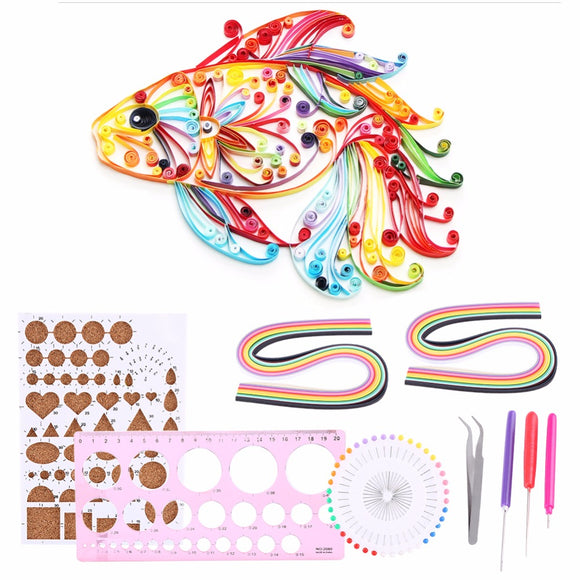 1 Set Handmade Paper Quilling Plastic Wood Template Board Papercraft+Pen+Quilling Ruler+Pearl Pins+Tweezer +Quilling Template