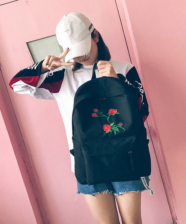 Rose Backpack (Black/White)