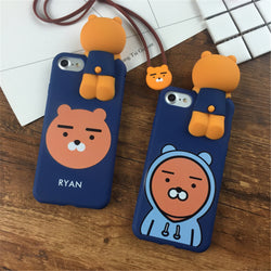 Kakao Friends 3D Ryan Case With Lanyard