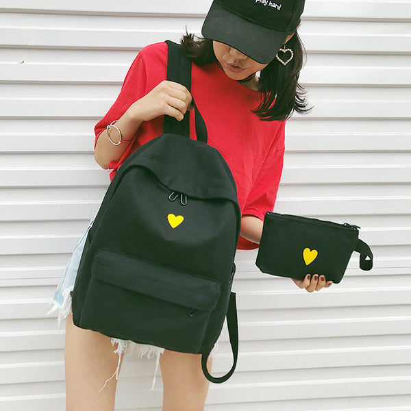 Heart Backpack + Pouch